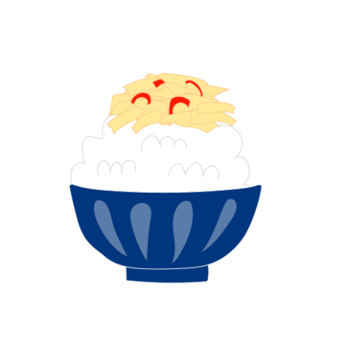 メンマのせご飯のイラスト