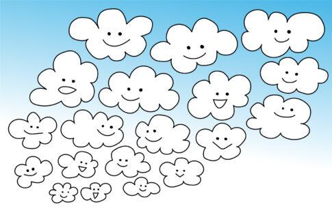 秋のウロコ雲のイラスト