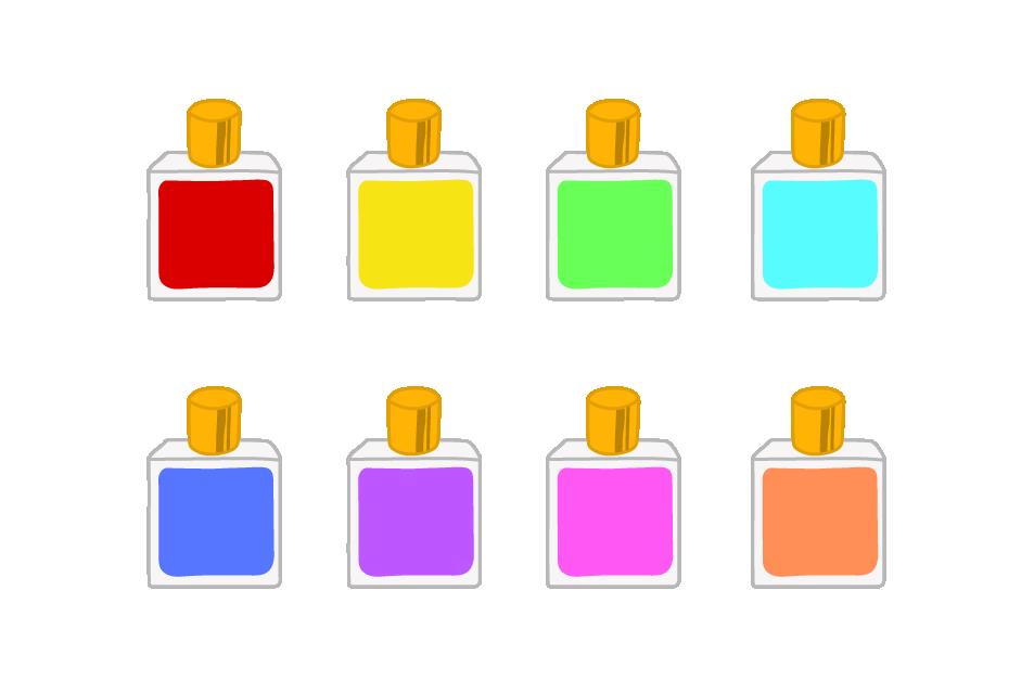 カラーボトルのイラスト