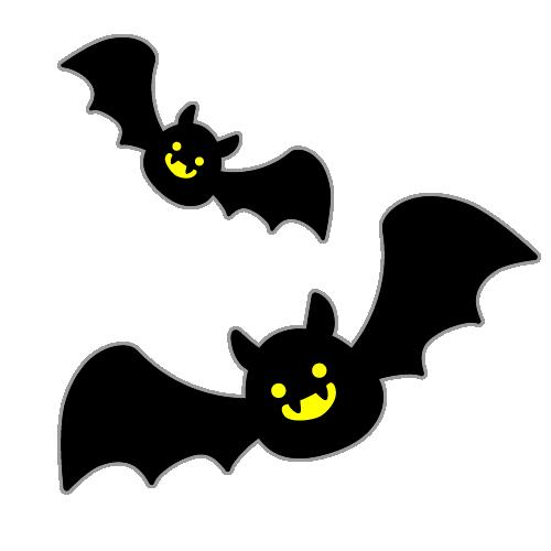 ハロウィンのコウモリのイラスト